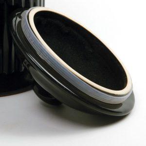 פח קרמי שחור לאיסוף שאריות אורגניות
