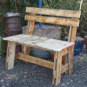 ספסל זוגי מעץ ממוחזר