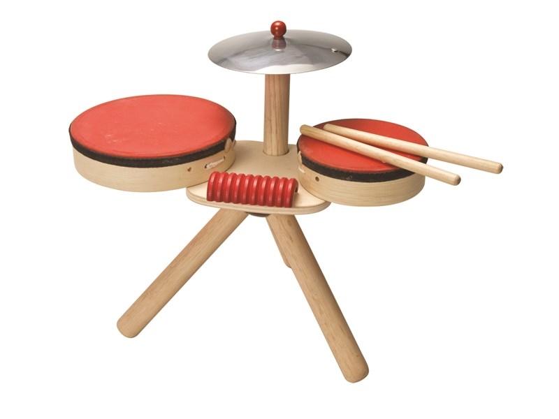 מערכת תופים מעץ - צעצועי עץ לילדים