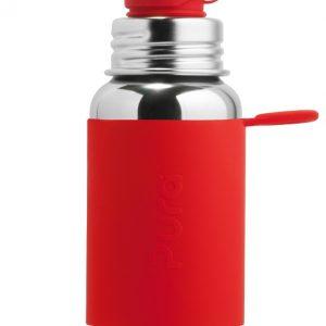 בקבוק ספורט - נירוסטה וסיליקון - ללא פלסטיק - 550 מ״ל - פורה