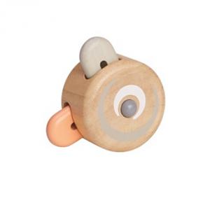 רעשן קוּקוּ - פסטל -צעצועי עץ לילדים