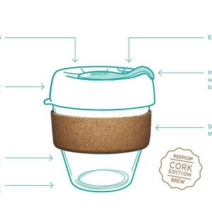 כוס זכוכית רב-פעמית - 340 מ״ל