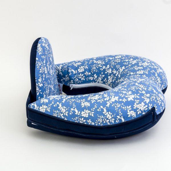 כרית הנקה יחיד - תכלת פרחוני