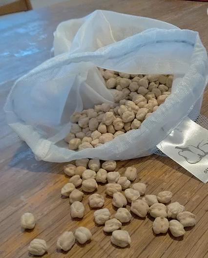 שקית רב-פעמית לאגוזים וקטניות
