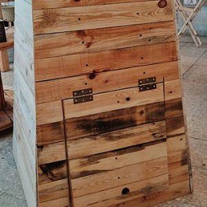 קומפוסטר עץ ביתי לגינה - 340 ליטר