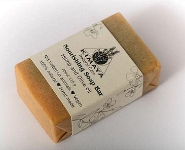 סבון הזנה מוצק על בסיס שמן המפ ושמן זית - Kimaya