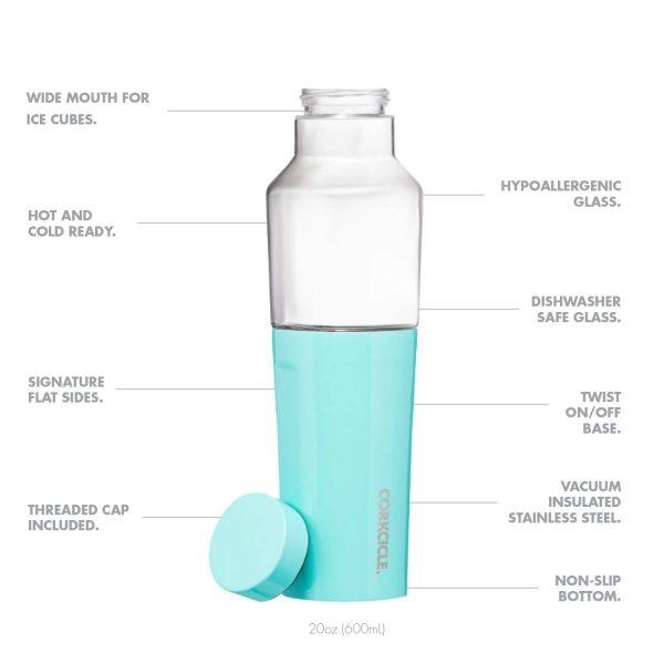"""HYBRID CANTEEN בקבוק 600 מ""""ל - טורקיז מבריק"""