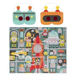 פאזל 100 חלקים - מפעל רובוטים
