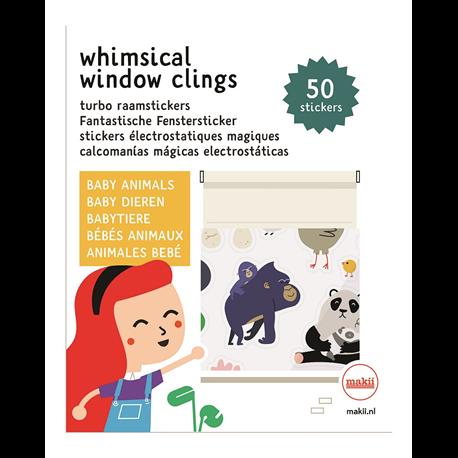 מדבקות רב פעמיות לחלון - חיות