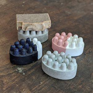 סבוניית בטון בעבודת יד - סבון עדן