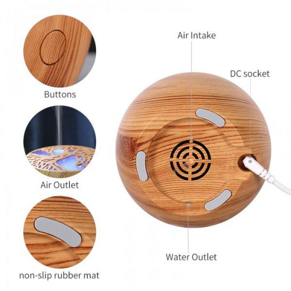 """דיפיוזר מפיץ ריח חשמלי 120 מ""""ל מעץ"""
