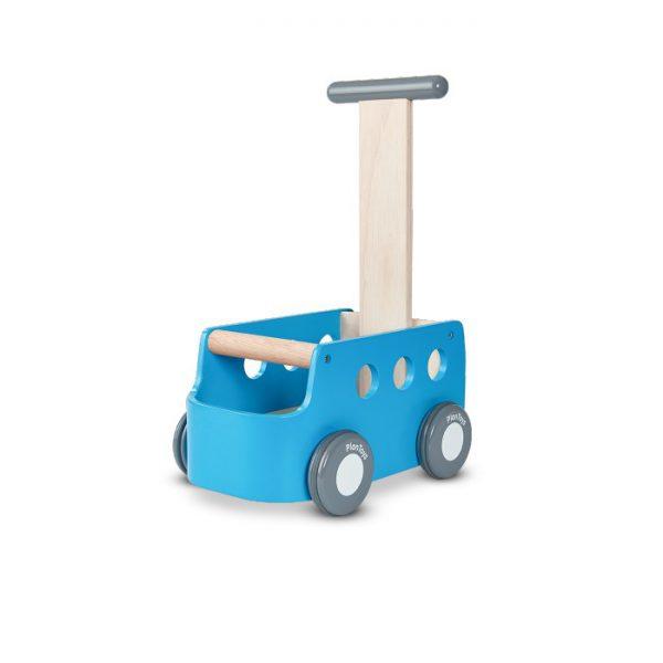עגלת הליכון מכונית תכלת- מעץ