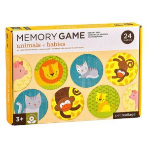משחק זיכרון - חיות וגורים