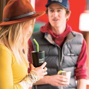 כוס נירוסטה מבודדת חום וקור עם פיית קפה - קלין קנטין