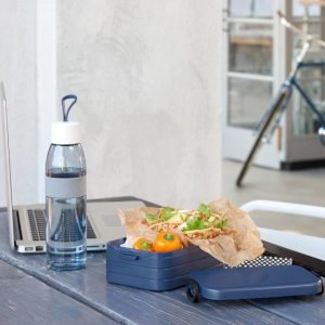 קופסת אוכל רב פעמית מחולקת - בינוני