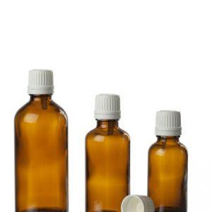 בקבוקוני זכוכית - להכנה עצמית של שמנים ותמציות